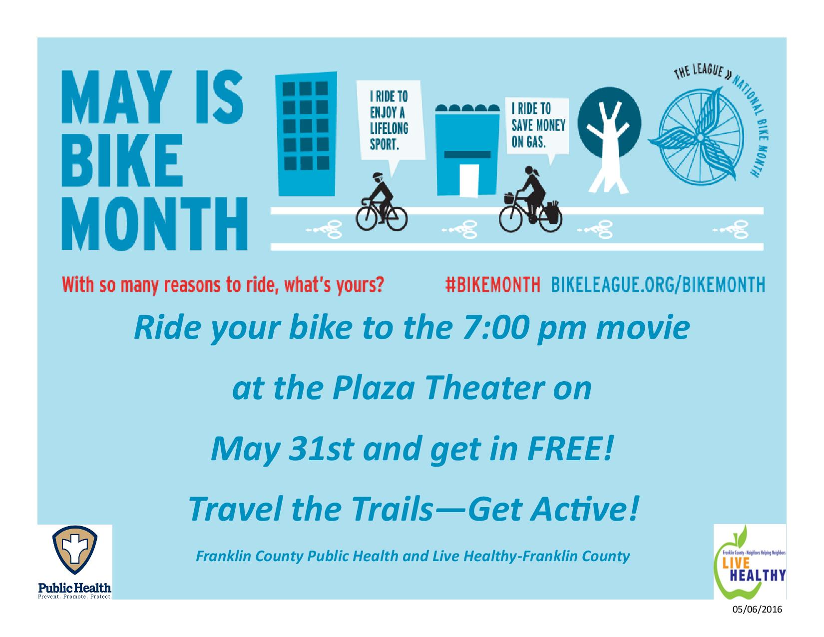 Bike to the Movie Night 5.16.2016