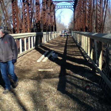 Elm Creek Bridge Railing Construction