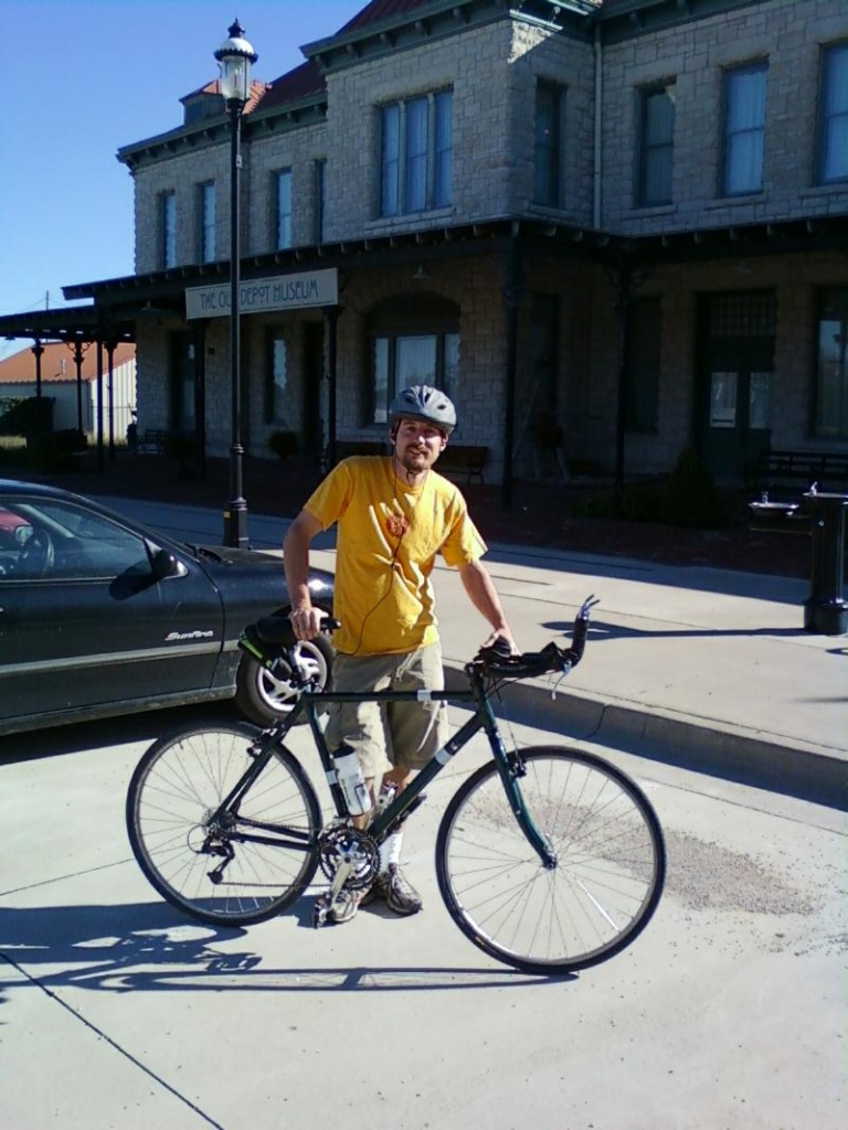 Jlovitt at the start of end to end ride in Fall 2010.