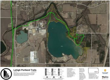 A new trail system at the southern end of the Prairie Spirit Trail: Lehigh Portland Trails