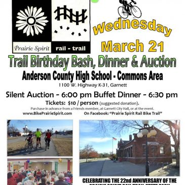 Prairie Spirit Trail Birthday Bash March 21 in Garnett