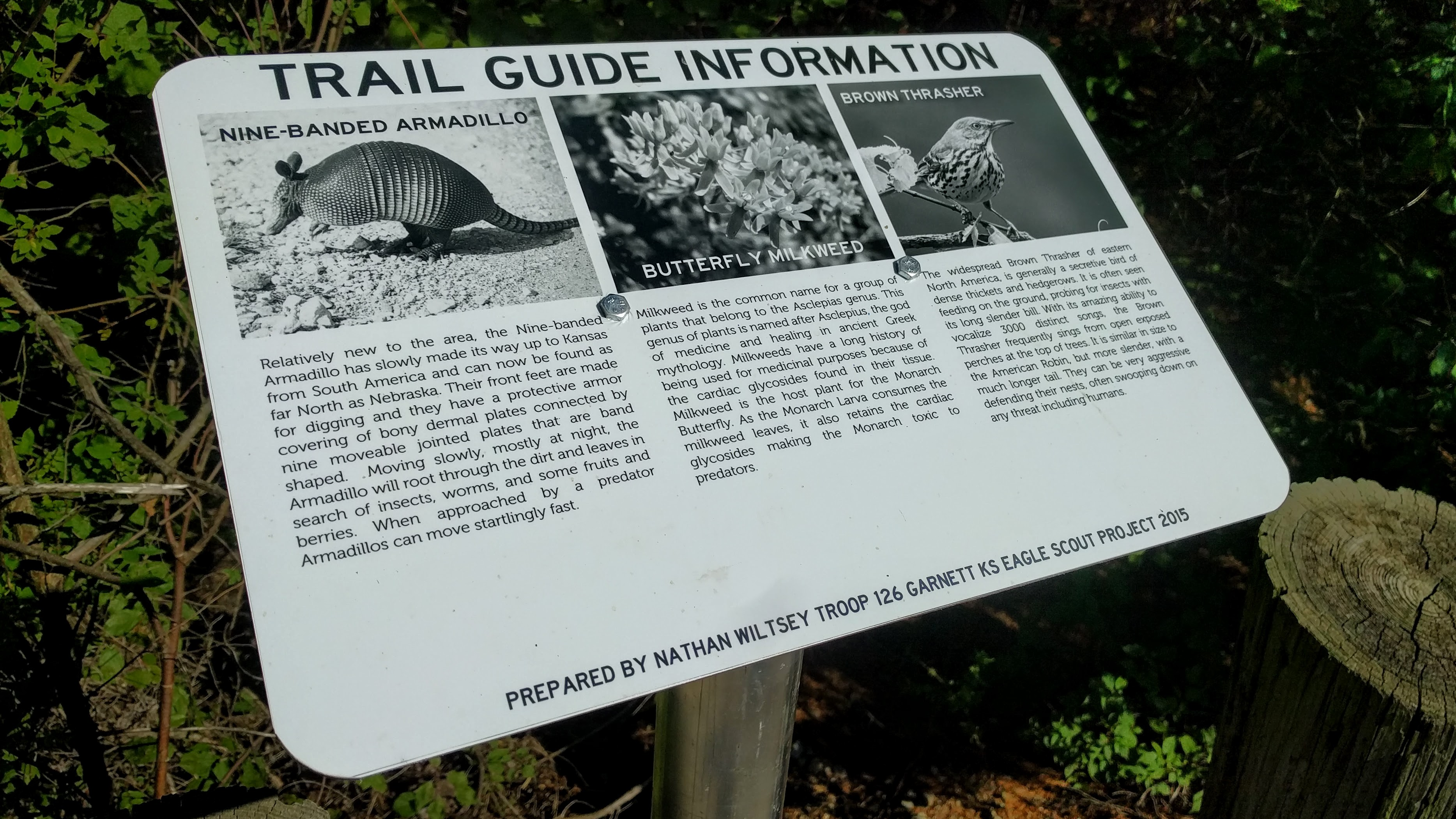 Prairie Spirit Trail Interpretive Sign