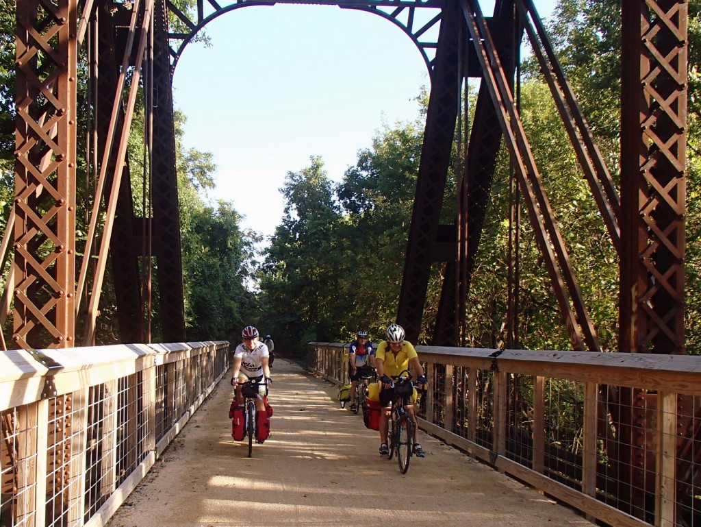 Touring Cyclists on the Southwind Rail Trail