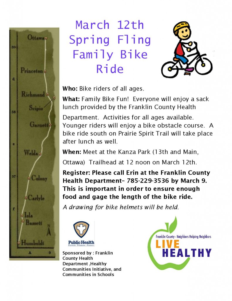 spring fling bike ride 2016 flyer